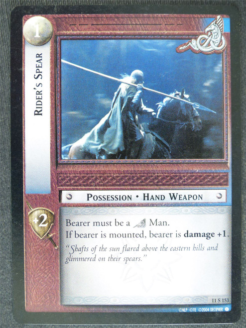 Rider's Spear 11 S 153 - played - LotR Cards #WI