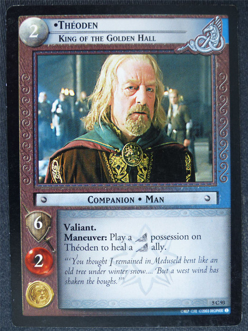 Theoden 5 C 93 - played - LotR Cards #X0
