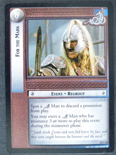 For the Mark 12 C 114 - played - LotR Cards #VM