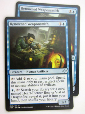 4x Renowned WeaponsmithFate ReforgedMTG Magic Cards