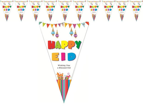 Happy Eid Triangle Flags (10 per Pack)