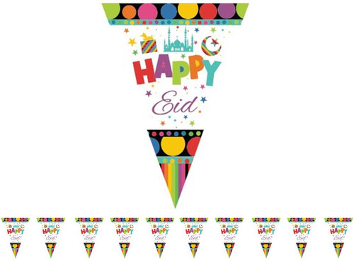 Happy Eid Triangle Flags (Pack of 10)