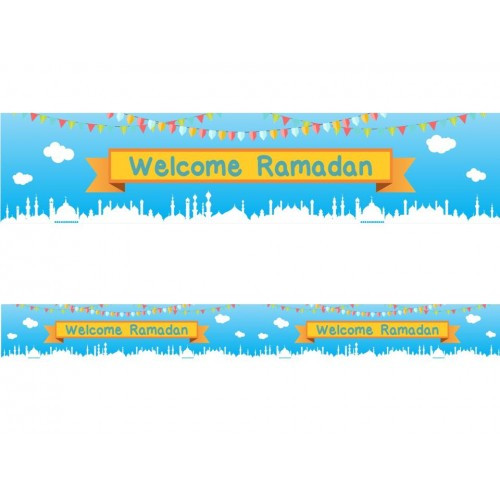 Welcome Ramadan - Double Banner (English Text Only)