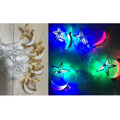 Lights - Star & Moon - Gold Trim