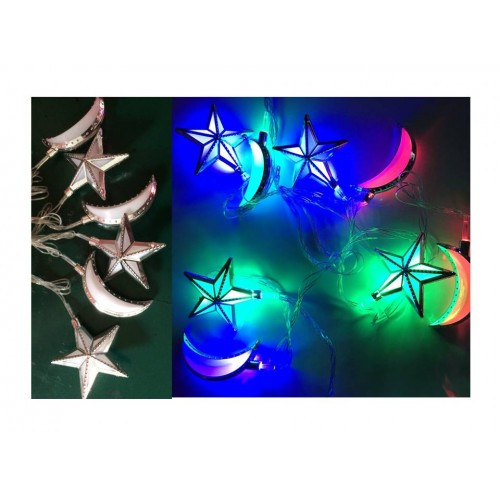 Lights - Star & Moon - Silver Trim