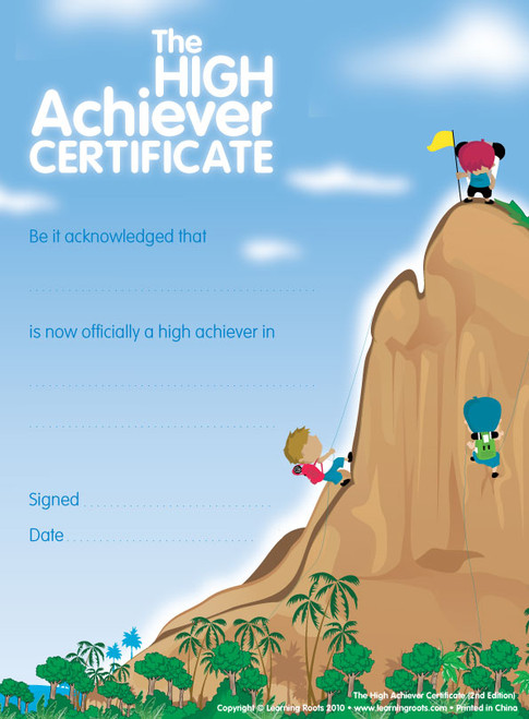 The High Achievers Certificate (25 Pack A4)