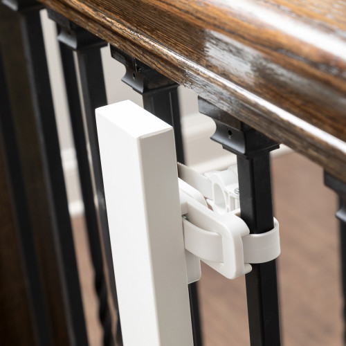 Universal Stair Mounting Kit on a baluster