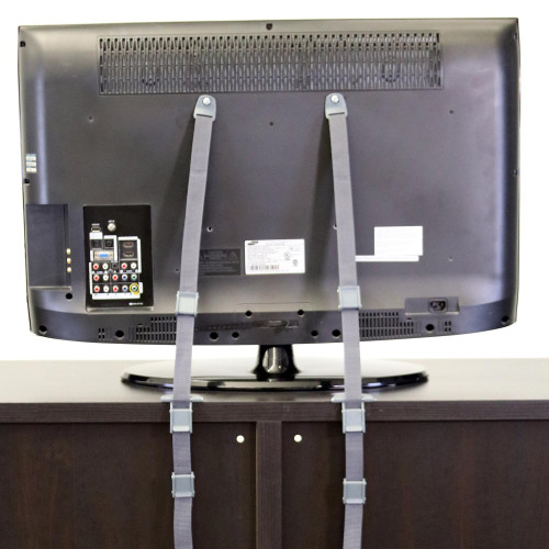 2-In-1 Anti-Tip TV Straps installed on a TV