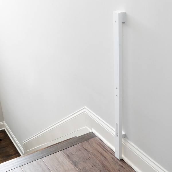 Universal Baseboard Kit at the top of the stairs