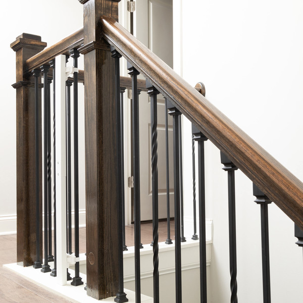 Universal Stair Mounting Kit on a staircase