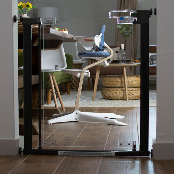 Crystal® Designer Baby Gate in a doorway