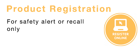 Product Registration for safety alert or recall only