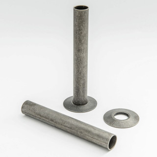 500 Radiator Pipe Shroud 130mm long - Pewter