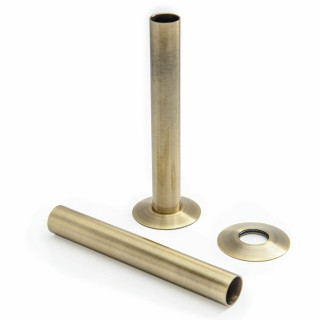 500 Radiator Pipe Shroud 130mm long - Antique Brass