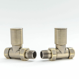 007 Modern Manual Straight Antique Brass Radiator Valves