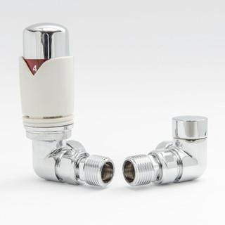 003 Modern TRV Corner White Thermostatic Radiator Valves