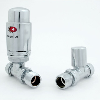 039 Modern TRV Straight Chrome Thermostatic Radiator Valves