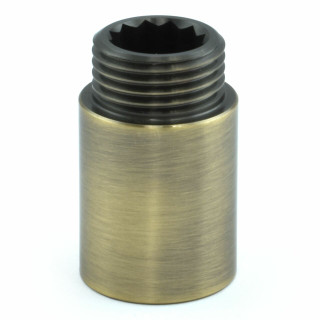 503 Rigid Radiator Extension Pipe 30mm long - Antique Brass