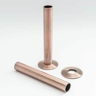 500 Radiator Pipe Shroud 130mm long - Antique Copper