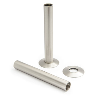 500 Radiator Pipe Shroud 130mm long - Satin (Brushed) Nickel