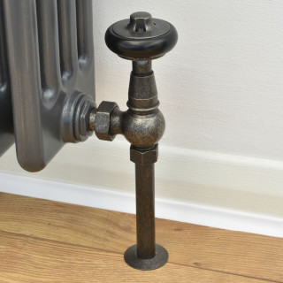 T-TRV-031-AG-PEW-PIP - 031 Traditional TRV Angled Pewter Radiator Valves with Sleeves