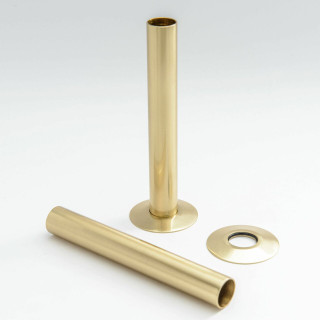 500 Radiator Pipe Shroud 130mm long - Brass