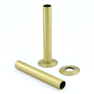 500 Radiator Pipe Shroud 130mm long - Brushed Brass