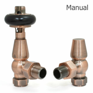 T-MAN-021-AG-AC-THUMB - 021 Traditional Manual Angled Antique Copper Radiator Valves