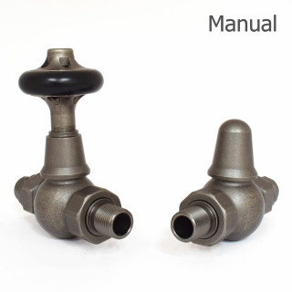 T-MAN-046-ST-PEW-THUMB - 046 Traditional Manual Straight Pewter Radiator Valves