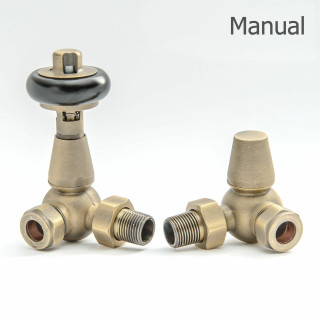 T-MAN-022-CR-OEB-THUMB - 022 Traditional Manual Corner Old English Brass Radiator Valves