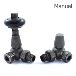 T-MAN-022-CR-PEW-THUMB - 022 Traditional Manual Corner Pewter Radiator Valves