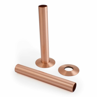 500 Radiator Pipe Shroud 130mm long - Brushed Copper