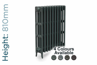 CA-CLR-V4-810-10-TH - Victorian Clearance 4 Column 10 Section Cast Iron Radiator H810mm x W644mm