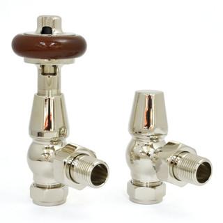 T-MAN-021-AG-N - 021 Traditional Manual Angled Nickel Radiator Valves