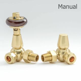 T-MAN-022-CR-B - 022 Traditional Manual Corner Brass Radiator Valves