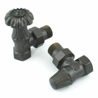MS-VLVCHA-AA1 - Chartwell Angled Traditional Radiator Valve - Anthracite (Manual)