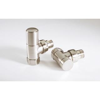 MS-VLVRAD-AB - Radius Angled Modern Radiator Valve - Brushed (Satin) Nickel (Manual)