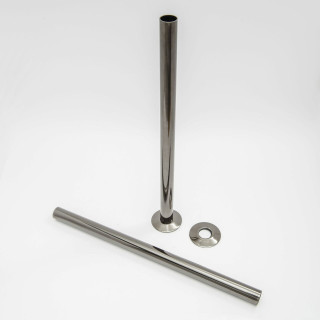 501 Radiator Pipe Shroud 300mm long - Black Nickel