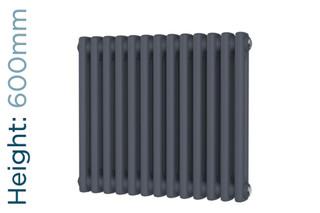 DR-A-COL-2-60592-TH - Cheltenham Anthracite 2 Column Horizontal Radiator H600mm x W592mm