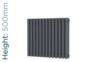 DR-A-COL-3-50599-TH - Cheltenham Anthracite 3 Column Horizontal Radiator H500mm x W605mm