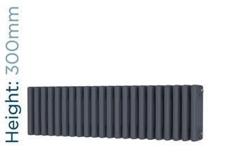 DR-A-COL-4-30988-TH - Cheltenham Anthracite 4 Column Horizontal Radiator H300mm x W988mm
