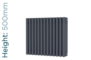 DR-A-COL-4-50592-TH - Cheltenham Anthracite 4 Column Horizontal Radiator H500mm x W592mm