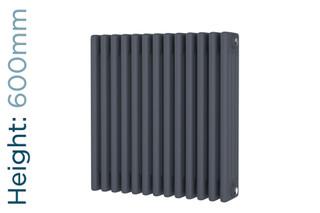DR-A-COL-4-60592-TH - Cheltenham Anthracite 4 Column Horizontal Radiator H600mm x W592mm