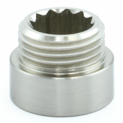 503 Rigid Radiator Extension Pipe 10mm long - Satin Nickel