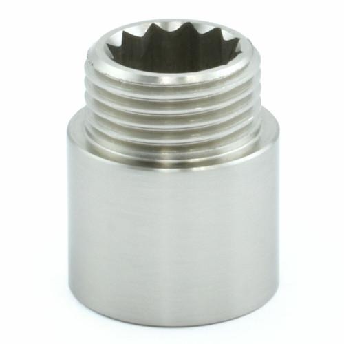 503 Rigid Radiator Extension Pipe 20mm long - Satin Nickel