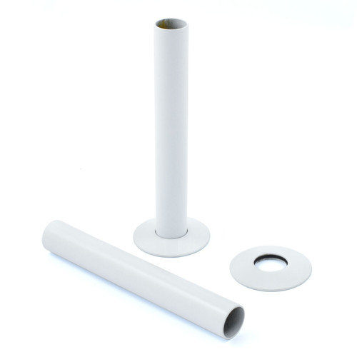 A-PIP-500-130-W - 500 Radiator Pipe Shroud 130mm long - White