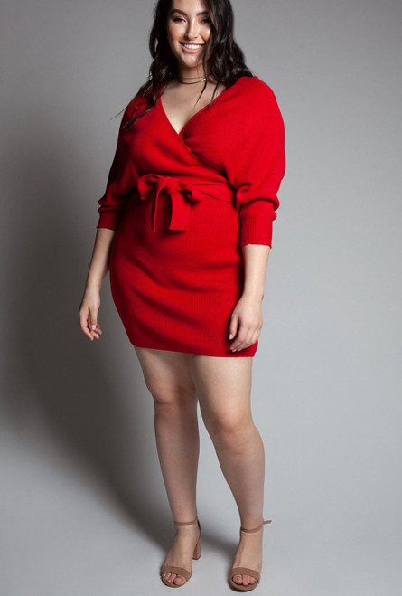 Nikki Red Dress - Plus