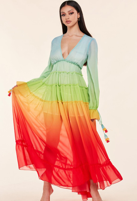 The Iris Ombre Maxi Dress