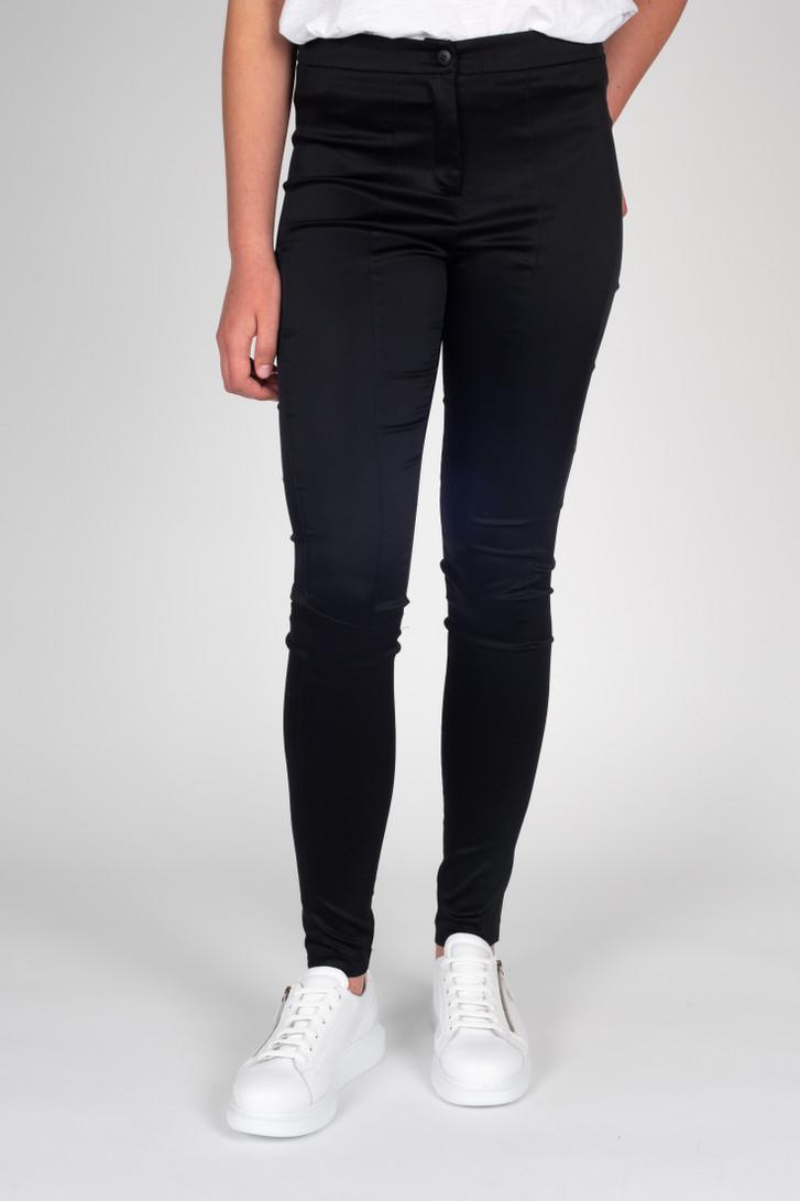 Tall model wearing Tuxedo Pants