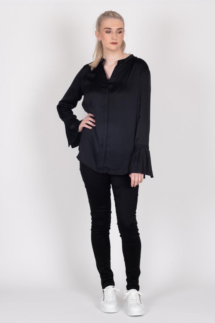 Paloma Shirt Black Satin